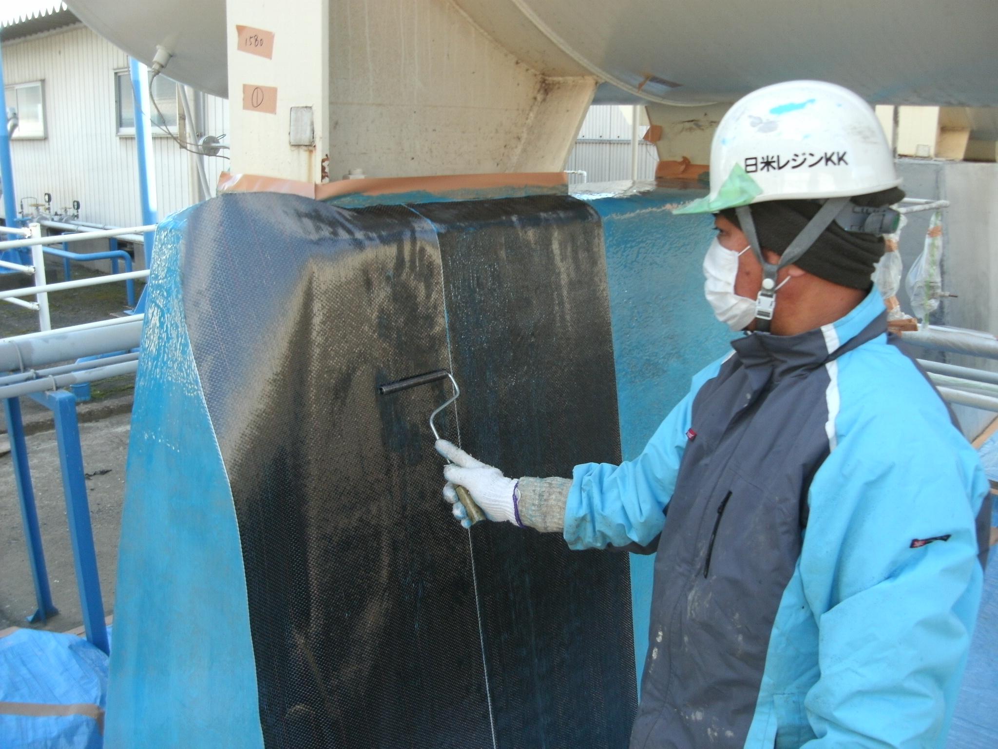 枕タンク基礎補修工事
